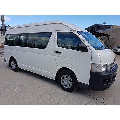 3/2008 Toyota Hiace Commuter TRH223R Bus White 2.7L