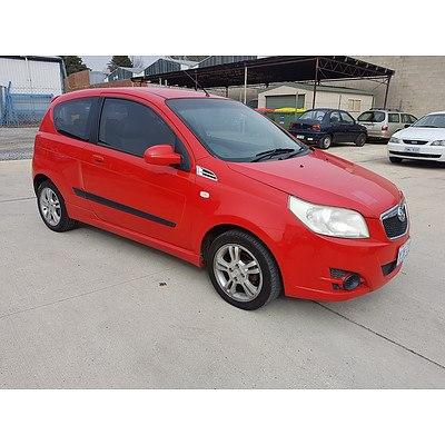 8/2008 Holden Barina  TK MY08 3d Hatchback Red 1.6L
