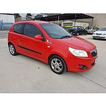 8/2008 Holden Barina  TK MY08 3d Hatchback Red 1.6L