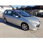 12/2007 Peugeot 307 XSE HDi 2.0 Touring MY06 UPGRADE 4d Wagon Silver 2.0L