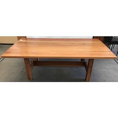 Solid Oak Boardroom Table