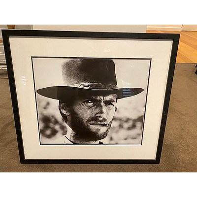 Hollywood Legend Clint Eastwood Framed Print