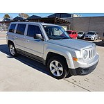 11/2012 Jeep Patriot Sport (4x2) MK MY12 4d Wagon Silver 2.0L