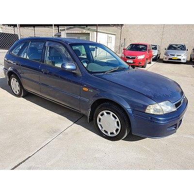 7/2001 Ford Laser LXi KQ 5d Hatchback Blue 1.6L