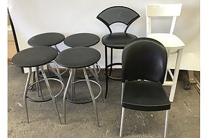 Bar Stools and Chair -Lot Of Seven