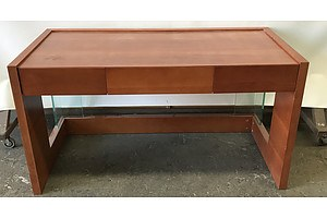 Veneer and Glass Desk