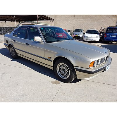 9/1988 Bmw 5 35i Executive  4d Sedan Silver 3.4L