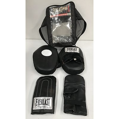 Everlast PVC Pads and Open Handed Mitt Combo