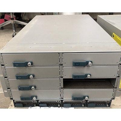 Cisco (N20-C6508 V01) UCS 5108 Blade Server Chassis w/ Cisco (N20-B6625-1 V02) UCS B200 Blade Server