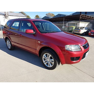 7/2009 Ford Territory TS (rwd) SY MKII 4d Wagon Red 4.0L