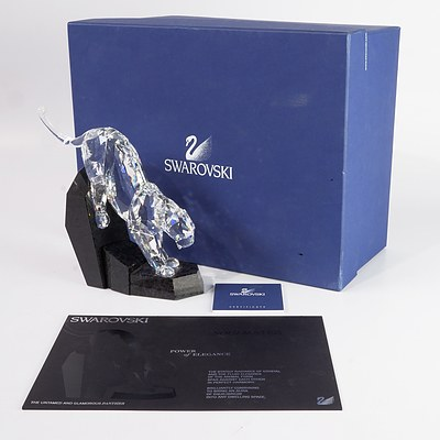 "Swarovski Crystal, Soulmates ""The Untamed and Glamorous Panther"" in Original Box"