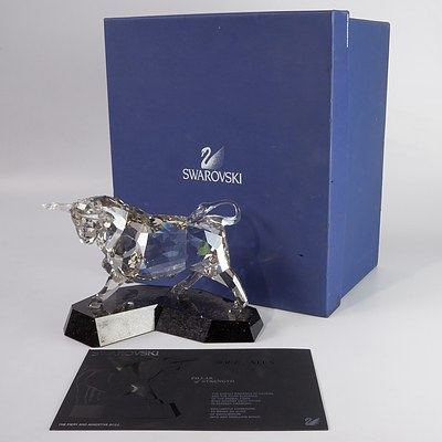 "Swarovski Crystal, Soulmates ""The Fiery and Assertive Bull"" in Original Box"