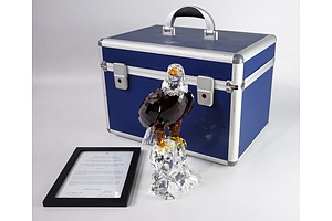 "Limited Edition Swarovski Crystal, ""The Bald Eagle"" in Original Box, 5762/10000"
