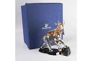 Swarovski Crystal Elephant in Original Box