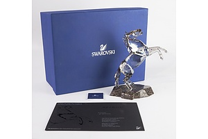 "Swarovski Crystal, Soulmates ""The Expressive and Free Spirited Stallion"" in Original Box"