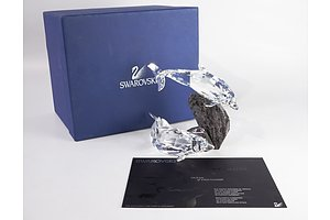 "Swarovski Crystal, Soulmates ""The Intelligent and Playful Dolphins"" in Original Box"