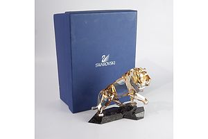Swarovski Crystal Lion in Original Box