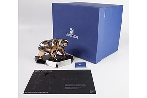 "Swarovski Crystal, Soumates ""The Protective and Solitary Bear"" in Original Box"