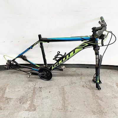 Scott Aspect and Giant ATX Mountain Bike Frames and Giant Wheel