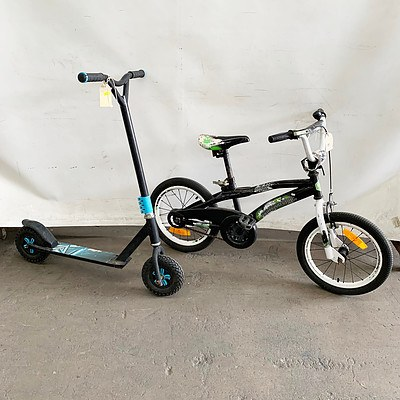 Scooter and Southern Star Rival Kids BMX Bike
