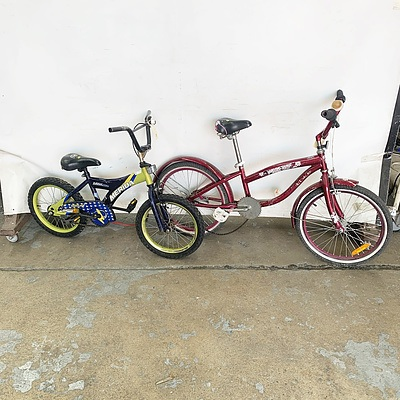 Merida Kalahari 160 Single Speed Boys Bike and Diamond Back Miz Della Cruz Single Speed Girls Bike