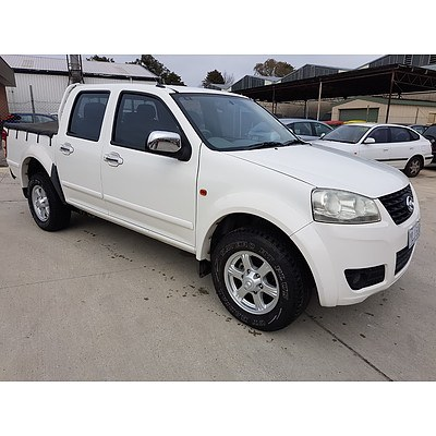 7/2011 Great Wall V200 (4x2) K2 Dual Cab Utility White 2.0L