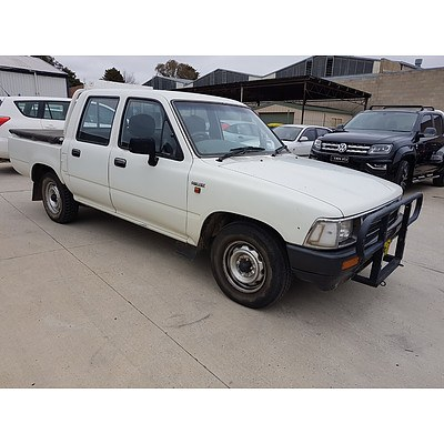 1/1995 Toyota Hilux  RN85R Dual Cab P/up White 2.4L