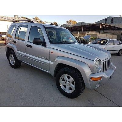 1/2003 Jeep Cherokee Limited (4x4) KJ 4d Wagon Silver 2.8L