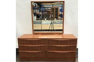 Retro Mirrored Sideboard
