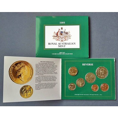 Australia: Uncirculated Mint Set 1985