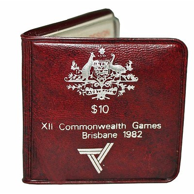 Australia: 1982 $10 Silver Coin - Commonwealth Games