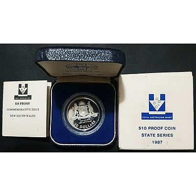 Australia: $10 Silver Proof 1987