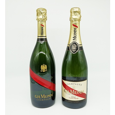 Two Bottles of G.H.Mumm Brut Champagne 750ml