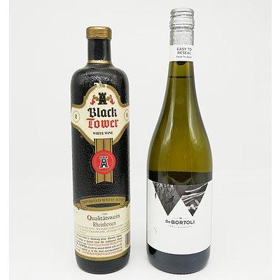 One Bottle of Black Tower White Wine 750ml and One Bottle of DeBortoli Willowglen Brut Cuvee 750ml