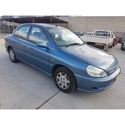 1/2001 Kia Rio   4d Sedan Blue 1.5L