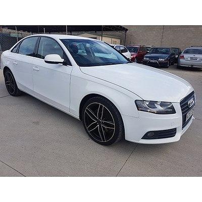4/2011 Audi A4 1.8 TFSI B8 (8K) MY11 4d Sedan White 1.8L