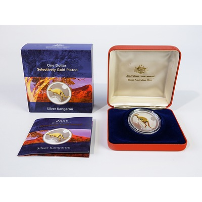 2006 $1 Selectively Gold Plated Silver Coin