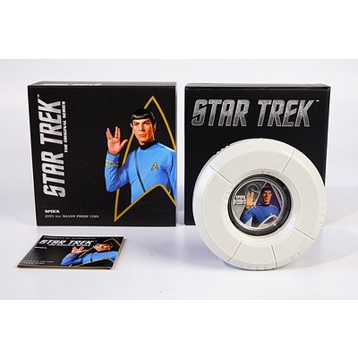 Perth Mint 2005 Star Trek 1oz Silver Proof Coin