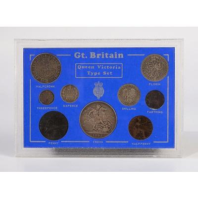 Great Britain Queen Victoria Nine Coin Set