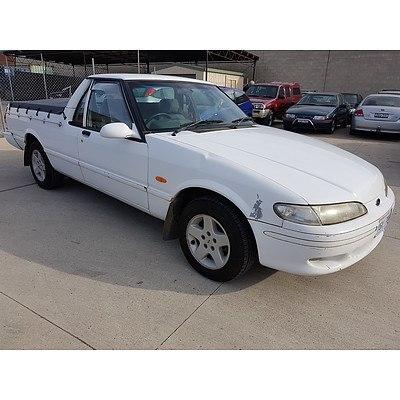 4/1996 Ford Falcon Ute White 4.0L
