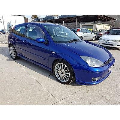 4/2003 Ford Focus ST170 LR 3d Hatchback Blue 2.0L