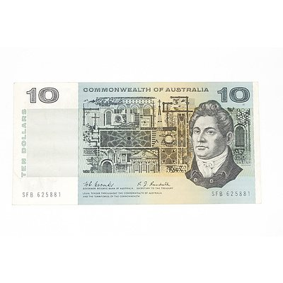 1967 Commonwealth of Australia Coombs / Randall Ten Dollar Note, SFB625881