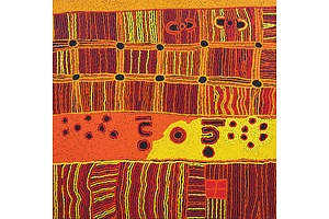 Maringa Baker (c.1952-) and Elaine Woods (c.1969-), Minma Katjara 2013, Acrylic on Canvas