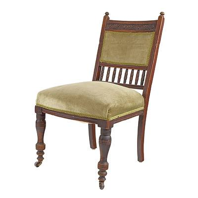 Late Victorian Mahogany Dining Chair in the Aesthetic Movement Style, Circa 1890