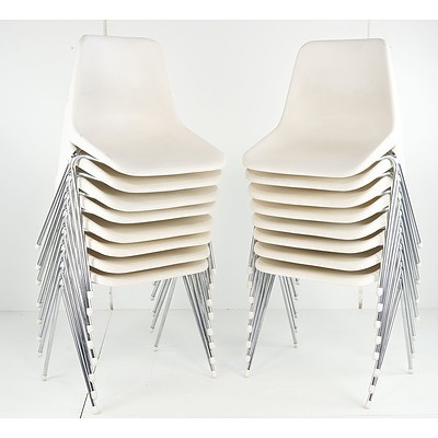 Robin DAY (British 1915-2010) Designer, Set of Sixteen Stackable Chairs
