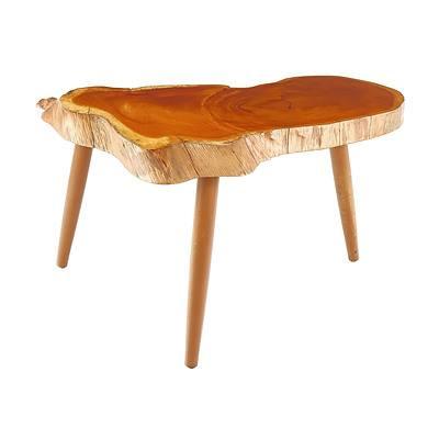 Huon Pine Cross-Cut Slab Topped Coffee Table 1950/60