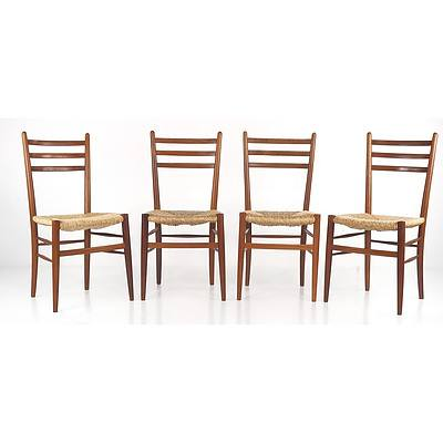 Four Italian Made Rooksmoor Mill Chairs in the Manner of Gio Ponti