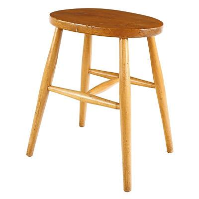 Ercol Turned Beech and Elm Stool