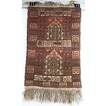 Small Hand Knotted Wool Baluchi Rug
