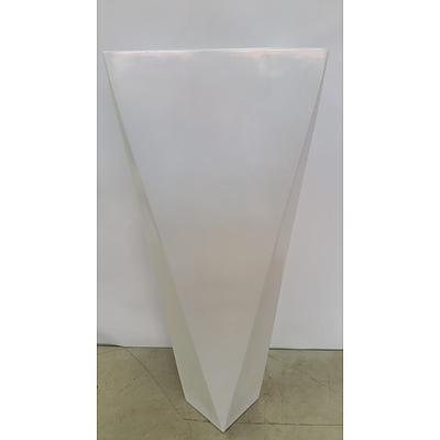 36cm Fibreglass Tapered Wedge Indoor Planter - Brand New